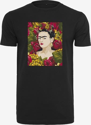 Merchcode T-Shirt in grün / mischfarben / blutrot / schwarz, Produktansicht