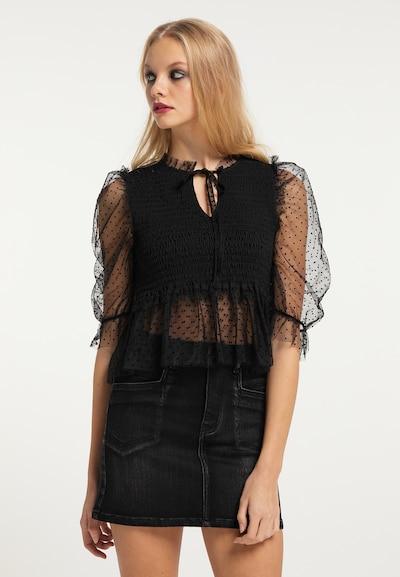 myMo ROCKS Bluse in schwarz, Modelansicht