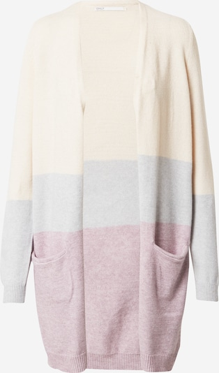 ONLY Knit cardigan in Beige / Grey / Pink, Item view