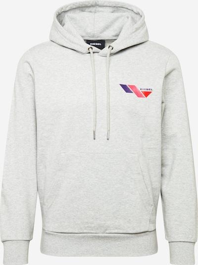 DIESEL Sweat-shirt en gris / violet foncé / rose / rouge orangé, Vue avec produit