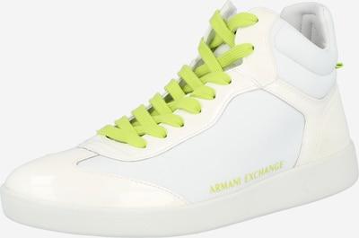 ARMANI EXCHANGE Zapatillas deportivas altas en kiwi / blanco, Vista del producto