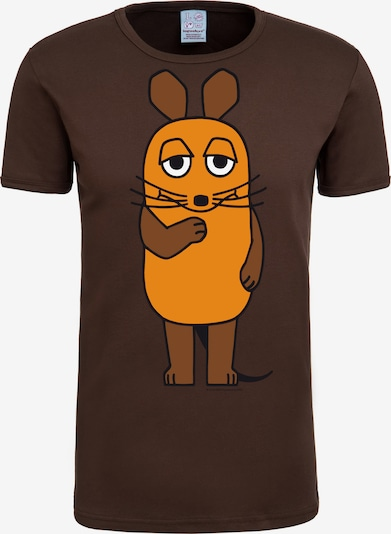 LOGOSHIRT T-Shirt 'Die Sendung mit der Maus' in dunkelbraun, Produktansicht