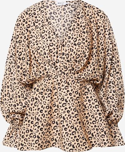 Camicia da donna NA-KD di colore beige / nero, Visualizzazione prodotti