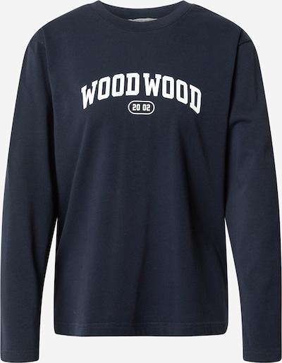 WOOD WOOD Μπλουζάκι 'Astrid' σε ναυτικό μπλε / λευκό, Άποψη προϊόντος