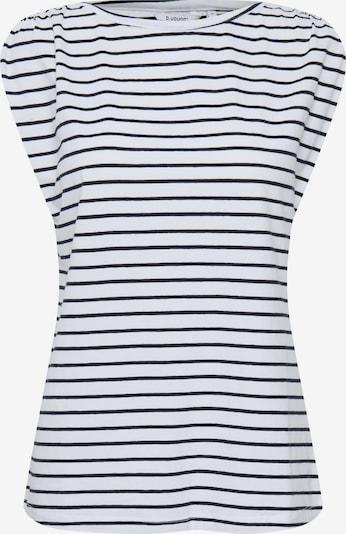 b.young T-Shirt in blau / weiß, Produktansicht