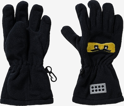 LEGO WEAR Fingerhandschuhe in gelb / schwarz, Produktansicht