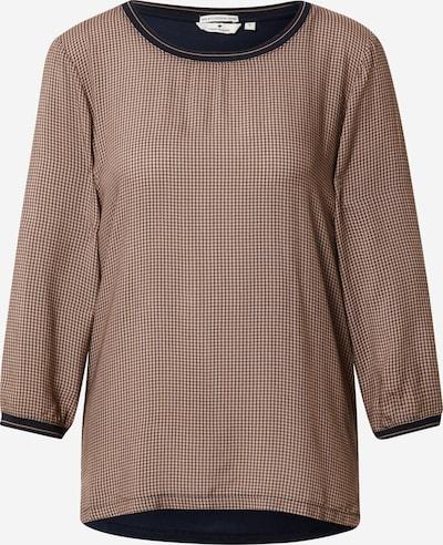 TOM TAILOR Shirt in navy / braun / schwarz, Produktansicht