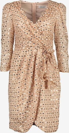 Lavard Seidenkleid betont die Büste mit einem V-Ausschnitt in beige, Produktansicht