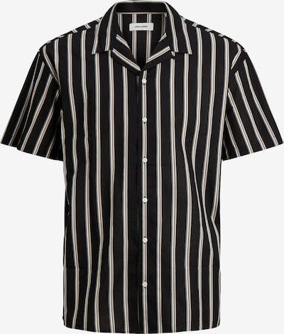 JACK & JONES Hemd 'Greg' in hellbeige / schwarz / weiß, Produktansicht