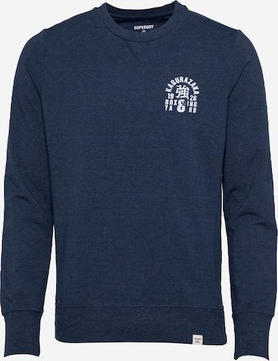 Superdry Športna majica | temno modra / bela barva, Prikaz izdelka