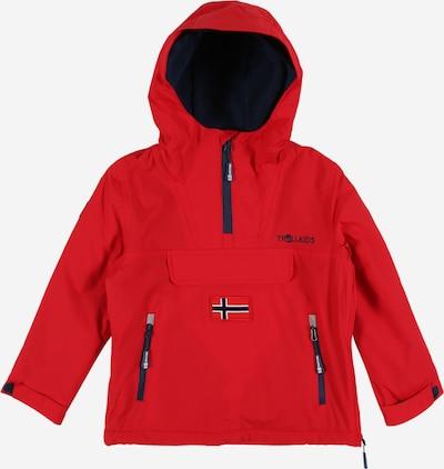TROLLKIDS Outdoorjas ' Kirkenes ' in de kleur Blauw / Rood, Productweergave
