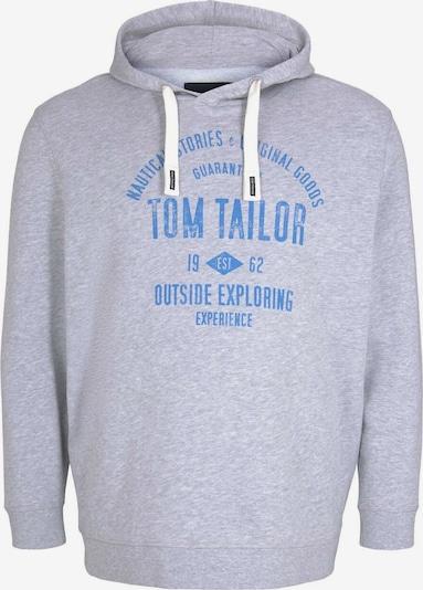 Bluză de molton TOM TAILOR Men + pe albastru regal / gri deschis, Vizualizare produs
