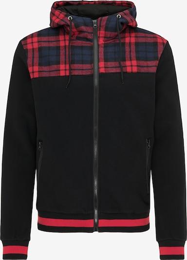 MO Tepláková bunda - námornícka modrá / grenadínová / čierna, Produkt
