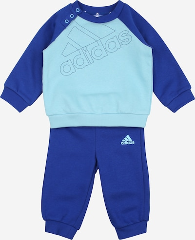 ADIDAS PERFORMANCE Sweatshirt und Sweathose Set in türkis / royalblau, Produktansicht
