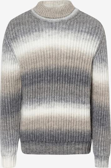 Baldessarini Trui in de kleur Beige / Grijs / Wit, Productweergave