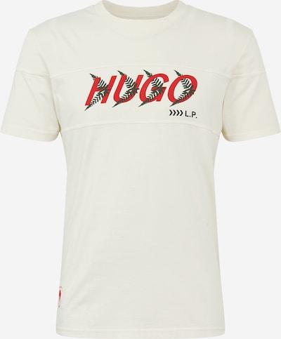 Tricou 'Dappel' HUGO pe crem / verde închis / roșu / negru, Vizualizare produs