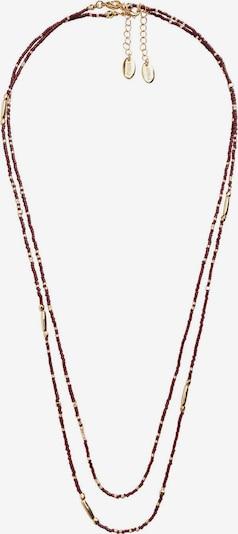 MANGO Verižica 'SANDRA' | zlata / češnjevo rdeča barva, Prikaz izdelka