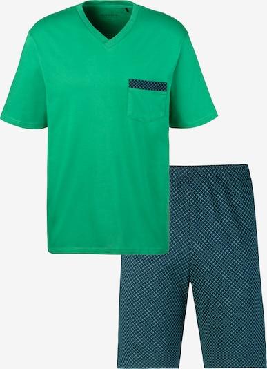 SCHIESSER Pyjama in dunkelblau / grasgrün, Produktansicht
