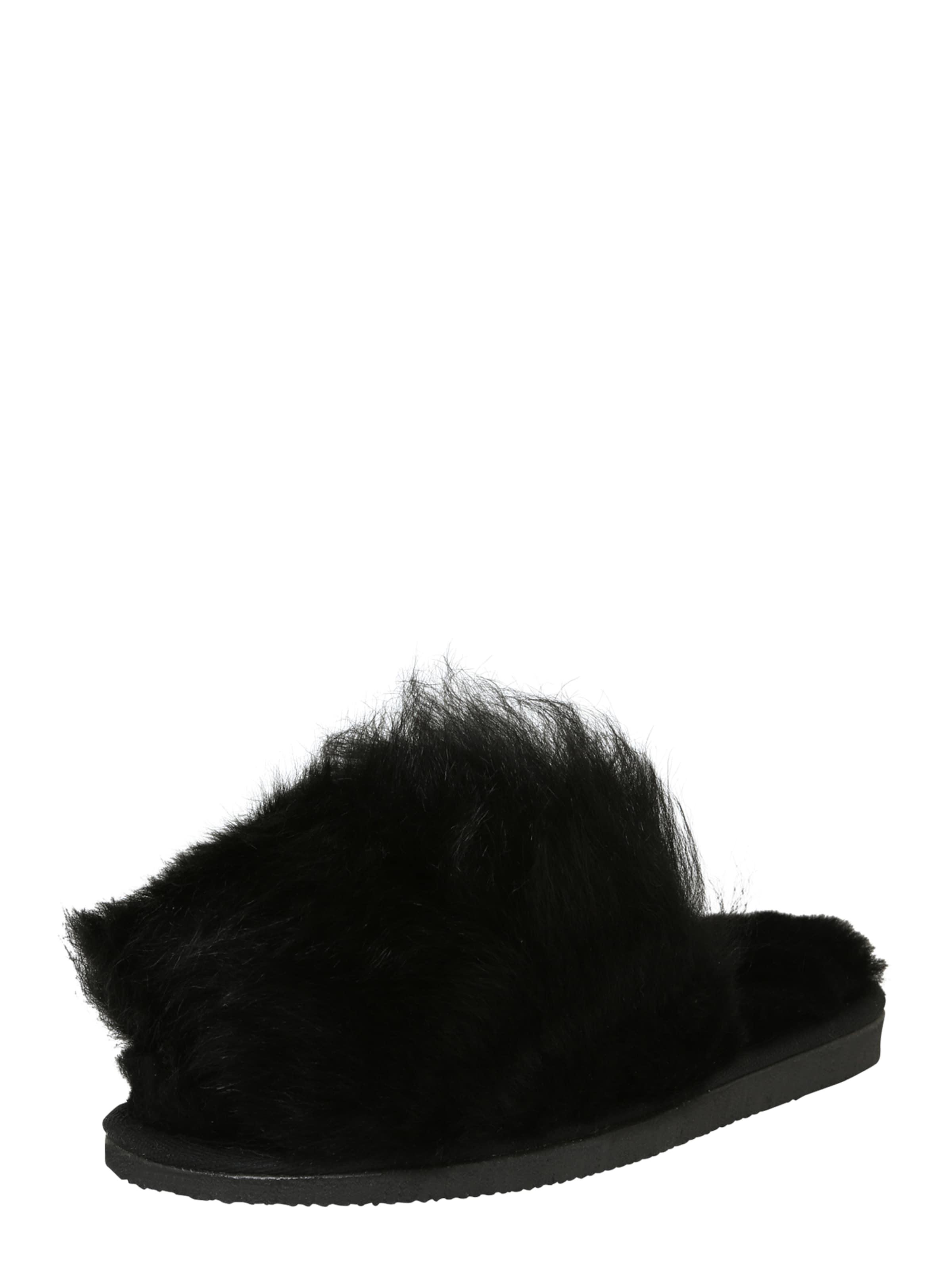 SHEPHERD OF SWEDEN Hausschuhe 'Tessan' in schwarz