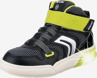 GEOX Sneaker 'GRAYJAY' in grau / neongrün / schwarz / weiß, Produktansicht