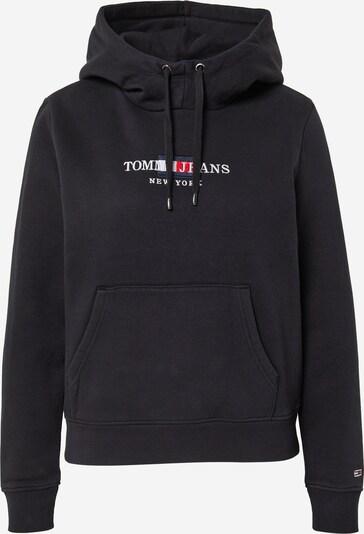 Tommy Jeans Sweat-shirt en noir / blanc, Vue avec produit