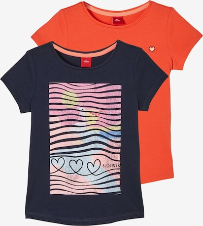 s.Oliver T-Shirt in blau / gelb / orange / pink, Produktansicht