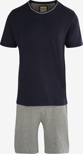 Phil & Co. Berlin Schlafanzug-Set ' Shorty ' in dunkelblau / grau, Produktansicht