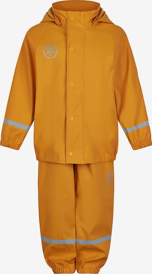 COLOR KIDS Regenanzug in dunkelgelb / silber, Produktansicht