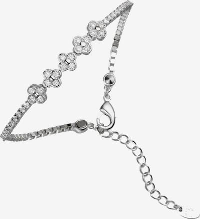 Lunavit Armband Magnetarmband 'Lady Line Flower', Silber in grau / silber, Produktansicht