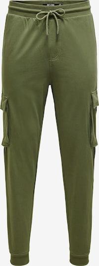 Pantaloni cu buzunare 'Kian' Only & Sons pe oliv, Vizualizare produs