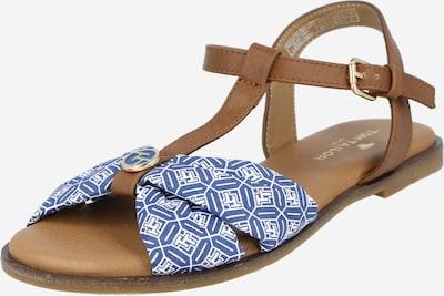 TOM TAILOR Sandale in blau / braun / weiß, Produktansicht