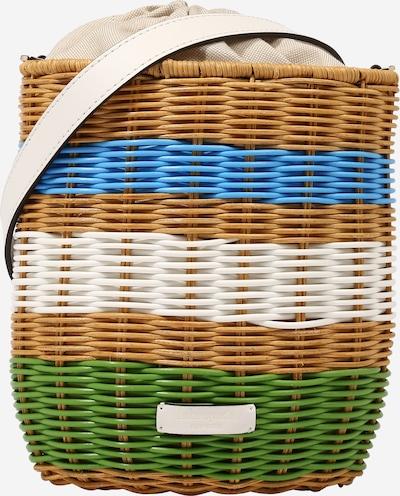 Kate Spade Sac de plage en bleu / marron / vert / blanc, Vue avec produit