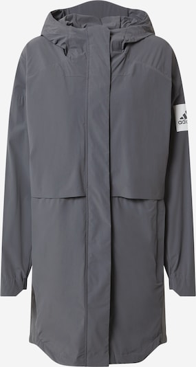 ADIDAS PERFORMANCE Sports jacket in dark grey / white, Item view