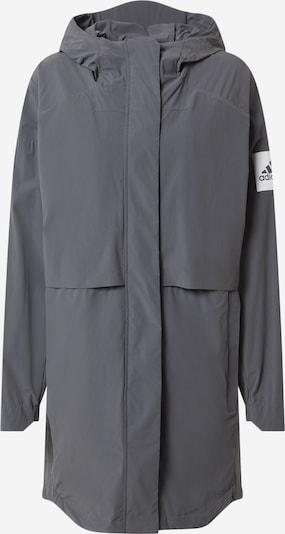 ADIDAS PERFORMANCE Veste de sport en gris foncé / blanc, Vue avec produit