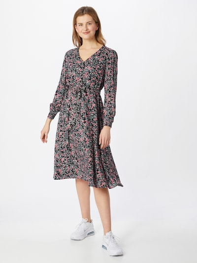 PIECES Kleid 'PAOLA' in mint / rosa / rosé / schwarz, Modelansicht