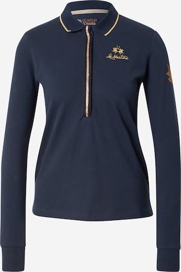 La Martina T-shirt en bleu marine / jaune, Vue avec produit
