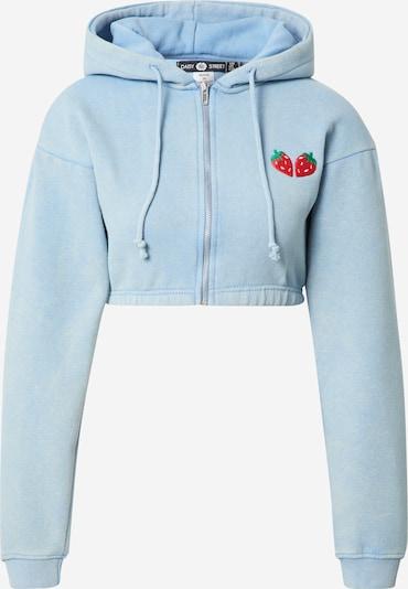 Daisy Street Sweatjacke in hellblau, Produktansicht