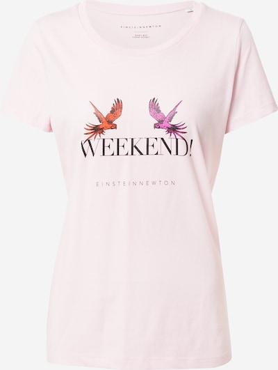 EINSTEIN & NEWTON T-Krekls 'Weekend', krāsa - ciklamenu / tumši oranžs / rožkrāsas / melns, Preces skats