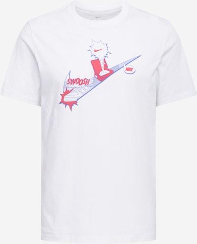 Marškinėliai iš Nike Sportswear , spalva - sidabro pilka / granatų spalva / balta: Vaizdas iš priekio