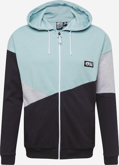 Picture Organic Clothing Sudadera con cremallera deportiva 'MAPPLE' en azul claro / gris / negro, Vista del producto