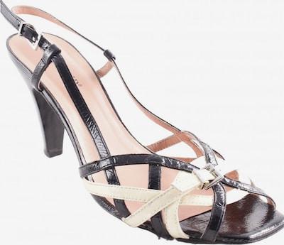 CAFÈNOIR High Heel Sandaletten in 40 in hellgelb / schwarz, Produktansicht