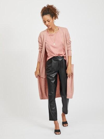 VILA Knitted Coat 'VIRIL' in Powder, View model
