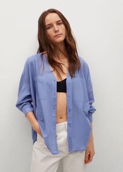 MANGO Bluse 'Lua' in blau, Modelansicht