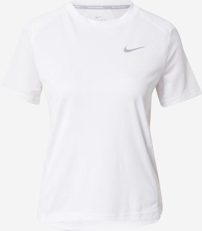 NIKE Camiseta funcional 'Miler' en plata / blanco, Vista del producto