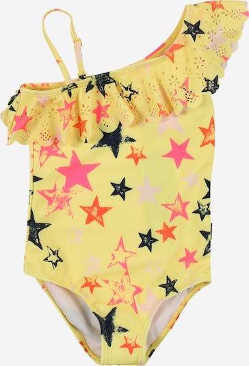 Molo Badeanzug 'Net' in navy / gelb / dunkelorange / pastellpink / dunkelpink, Produktansicht