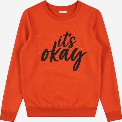 NAME IT Sweatshirt 'SUMALA' in dunkelorange / schwarz, Produktansicht