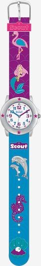SCOUT Uhr in himmelblau / grau / lila / weiß, Produktansicht