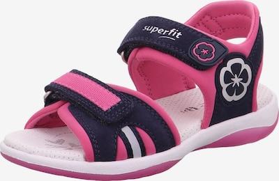 SUPERFIT Sandale 'Sunny' in dunkelblau / pink / weiß, Produktansicht