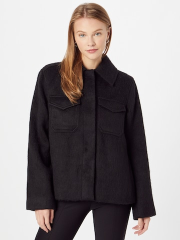 Manteau mi-saison 'Isa' WEEKDAY en noir