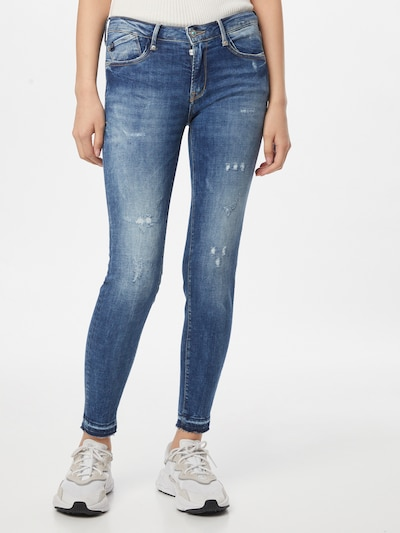 Le Temps Des Cerises Jeans in de kleur Blauw denim, Modelweergave